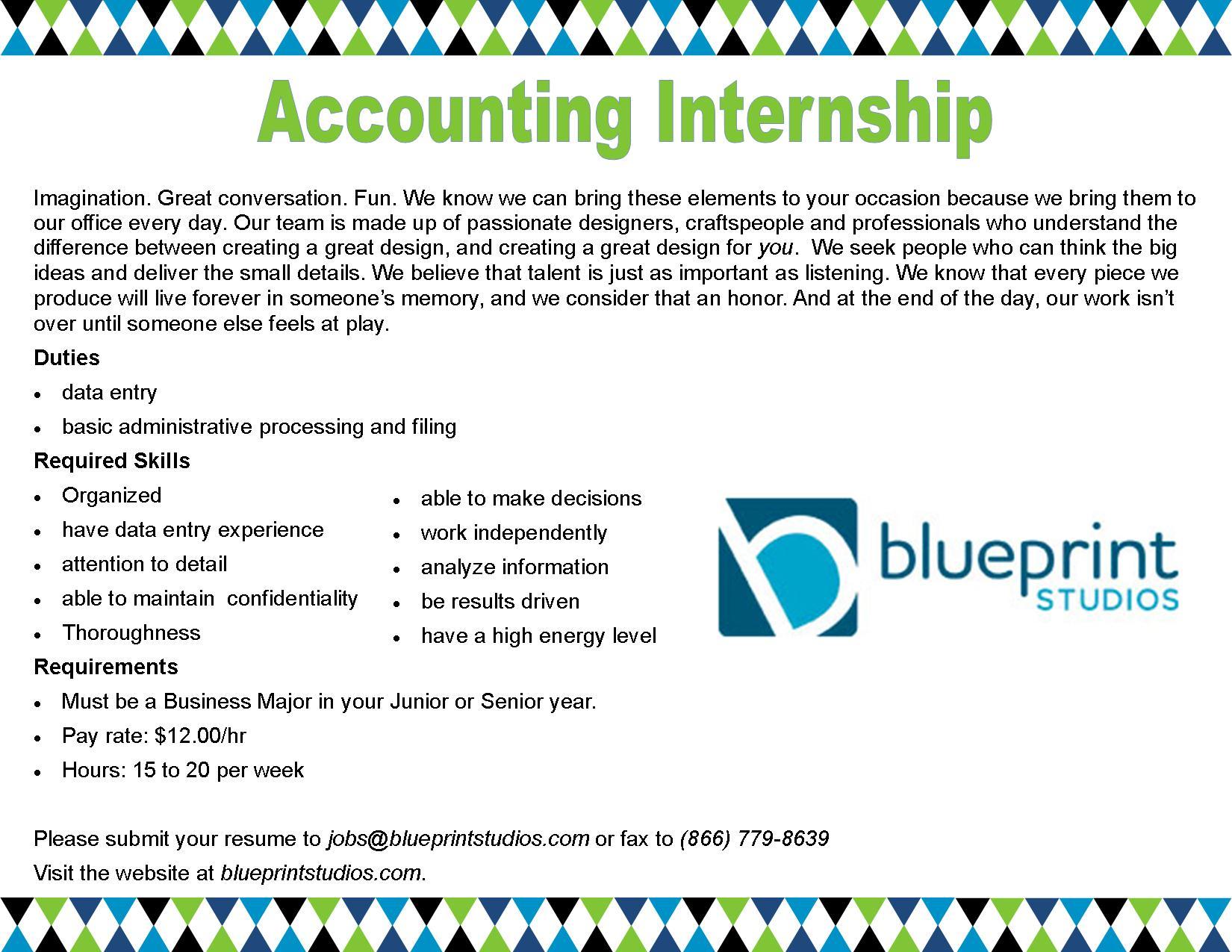 Accounting internship blueprint studios career corner blueprint studios malvernweather Gallery