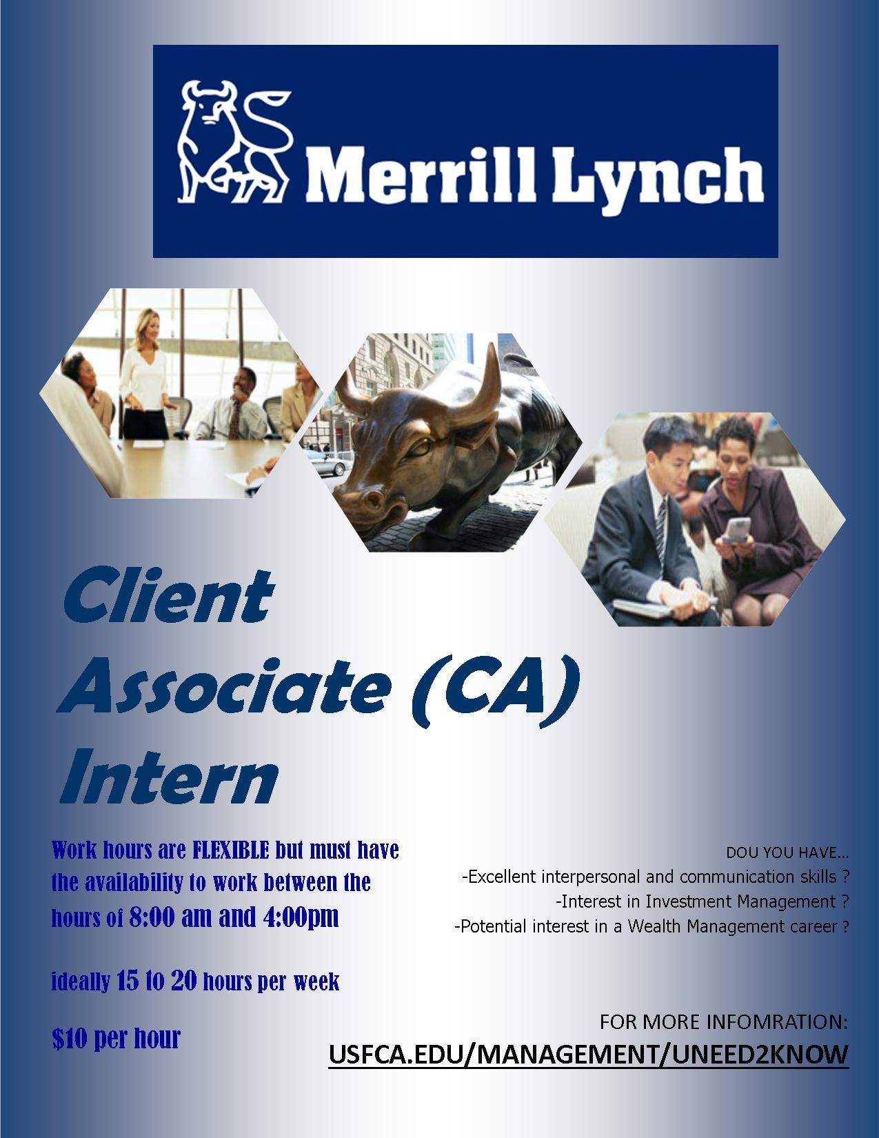 resume merrill lynch financial merrill lynch financial advisor merrill lynch client associate ca intern
